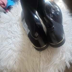 The Children's Place Shoes - Black shinny front/suede in back of boots